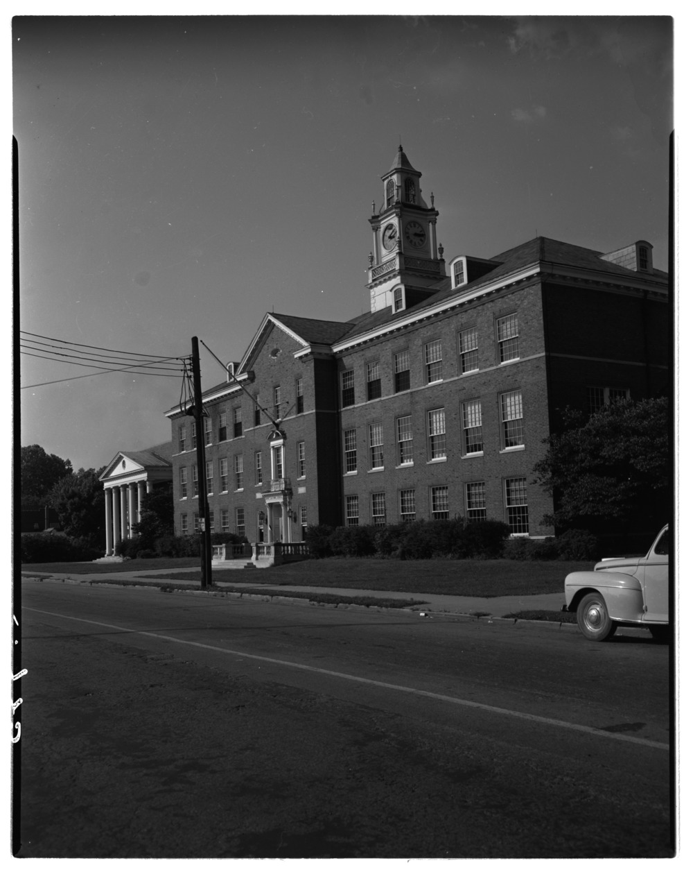 Negatives used in making up section head in 'Back to School' edition of Herald-Leader.  Building shown is Henry Clay…