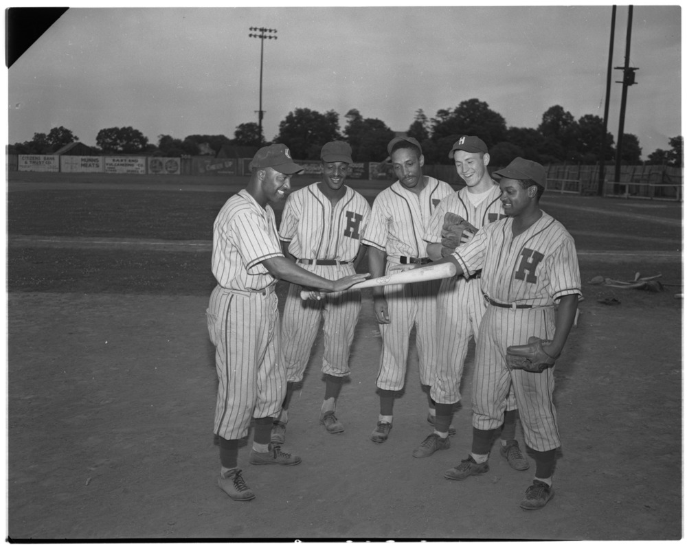 Pictures in connection with the Hustlers, African-American baseball team.  Bunny Davis, Manager Scoopy Brown, Bill…