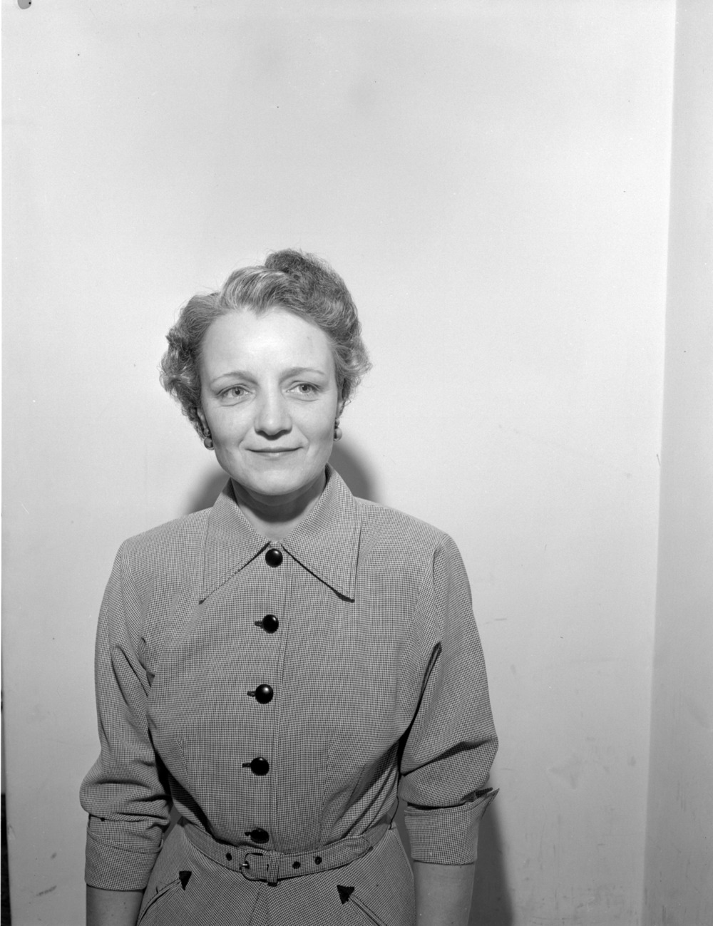 Portrait of Miss Marjorie Tubbs, Administrator of Cripples Children's Convalescent Home. January, 1950.